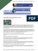2009-10-16 - Como Definir o Preço Da Prestação de Serviços