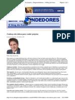 2009-11-03 - Conheça Oito Táticas Para Vender Projetos