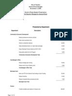3rd Quarter Budget Revisions