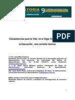 Competencias Para La Vida en El Siglo XXI a Travez de La Educacion.una Revision Teorica