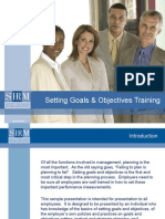 Setting Goals and Objectives Training