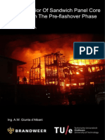 Fire Behavior of Sandwich Panel Core Materials in the Pre Flashover Phase