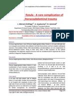 Biliopleural fistula - A rare complication of blunt thoracoabdominal trauma
