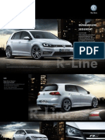 VW Golf VII R-Line Brochure