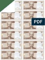Rp 2000 Uang Kertas Mainan