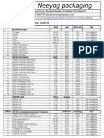 Wholesale Price List Neeyog