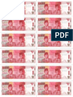 Rp 100000 Uang Kertas Mainan