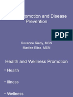 Health Promotion and Disease PreventionStudentSP12