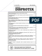 Daftar Isi Disprotek Vol.6 No.1 2015