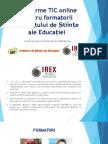 Platforme TIC Online Pentru Formatorii Institutului de Științe