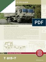 Tatra t815 780r59 4x4 Chassis En