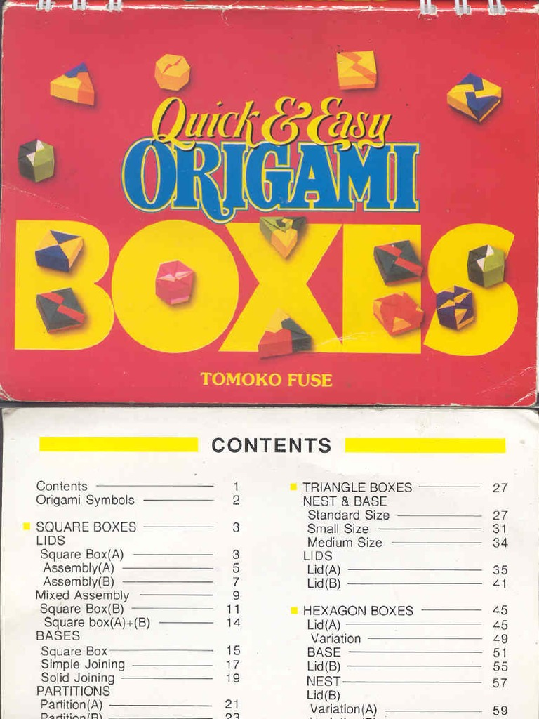 En Book Origami Tomoko Fuse Quick And Easy Boxes Hexagon Box Instructions