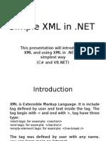Simple XML in .NET