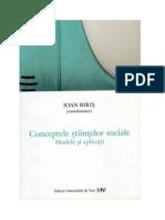 Conceptele Stiintelor Sociale - Ioan Biris