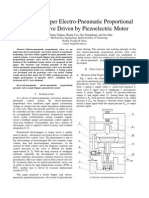 A Nozzle Flapper Electro-Pneumatic Proportional Pressure Valve Driven by Piezoelectric Motor