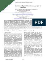 Equilibrium-based Simulation of Lignocellulosic Biomass Pyrolysis via Aspen Plus