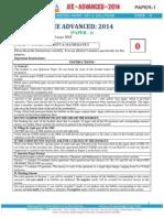 Jee Advance 2014 Paper 1 Code 0