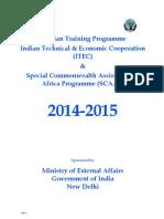 ITEC Civilian Training Programme of 2014-15