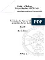 NES 872 Part 3 Procedures for First Level Nickel Aluminium Bronze Castings - Category 1
