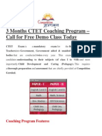 CTET Coaching in Delhi, CTET Coaching Institute in Delhi