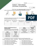 Unit 4 Exam (Spanish 2)