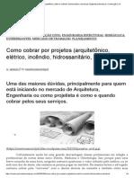 Como Cobrar Por Projetos (Arquitetônico, Elétrico, Incêndio, Hidrossanitário, Estrutural) _ Engenharia Estrutural e Construção Civil