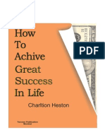 How to Achieve Great Success in Life