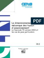 008 Dimensionnement Mecanique Tuyaux d Assainissement Beton Fascicule 70 Et Pose