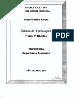 Educacion Tecnologica 1 Ano 3 Div