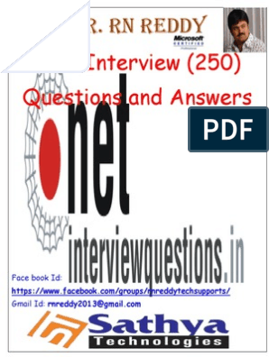 Net Interview Questions_WorkShop(250 questions and answers) pdf