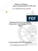 NES 751 Requirements for Preservation, Preparation and Painting of GRP Ships (Superseded by NES 863) Category 2