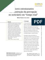 Vetores Estruturantes Na Construcao Da Percepcao Do Noticiario Em Tempo Real ECOMPOS 2009-Libre