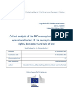 FRAME - Critical Analysis of the EU's Conceptualisation and Operationalisation of the Concepts of Human Rights, Democracy and Rule of Law