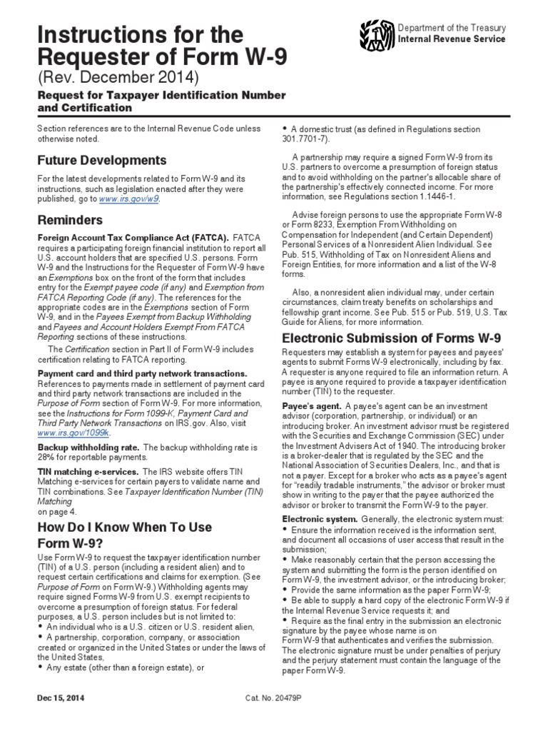 Iw9 Withholding Tax Irs Tax Forms