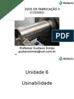 Unidade 6-Usinabilidade