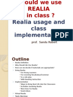 Why Should We Use Realia in Class