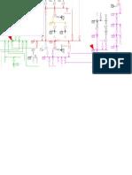 plano unilineal de un dibujo electrico