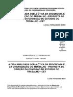 A CIPA Analisada Sob a Ótica Da Ergonomia