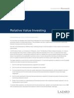 RelativeValueInvesting_LazardResearch