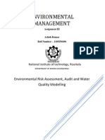Environmental Risk Assessment, Audit and Water Quality Modelling