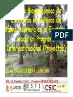 Mejoramiento de La Fertilidad Del Suelo en Palma Aceitera