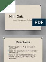 mini quiz 1 moon-phases and vocabulary