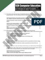 Informatics Practices - Sample Paper