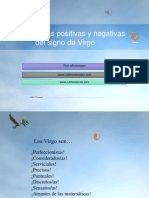 Características Positivas y Negativas Del Signo de Virgo