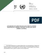 Análisis de Los Aspectos Legales y Regulaciones Vigentes en La Produccion de Caña de Azucar en América Central
