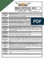 Roteiro e Inclui - Calfornia e Rota 66 - 2015 - Eli Araujo