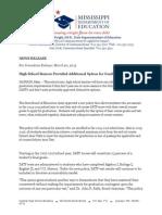 MDE Graduation Press Release