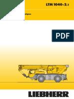 Liebherr LTM 1040-2.1 Mobile Crane_40t_Technical Data