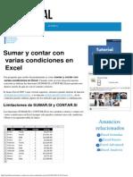 Sumar y Contar Con Varias Condiciones en Excel - Excel Total