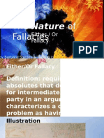 Either / or Fallacy Presentation
